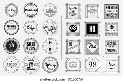 circle and square badges design elements,vintage sign,design template,label