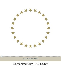 Circle Star Border Vector Logo Template Illustration Design. Vector EPS 10.