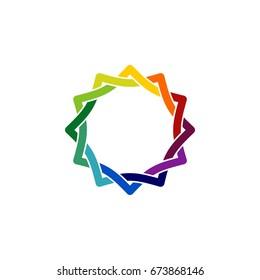 Circle Star Ornamental Logo Template Illustration Design. Vector EPS 10.