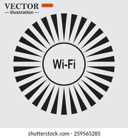 Circle. The sun. Rays. Black icons on white. The wireless network , vector illustration, EPS 10