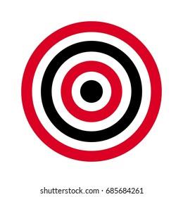 circle of target. archery target. shoot target. vector logo.