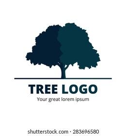 Circle Tree vector logo design