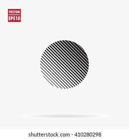 Circle. Unusual flat icon. Minimal geometry. White background. Stock vector.