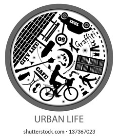 Circle of Urban Life Style in Rush Hour