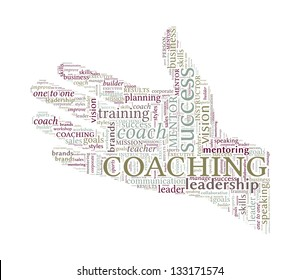 Circle Vector Word Cloud - Coaching Concept