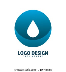 circle water drop logo design