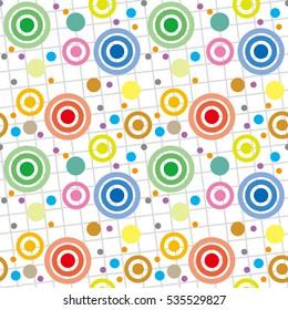 circle wave tile, color - Geometric seamless pattern