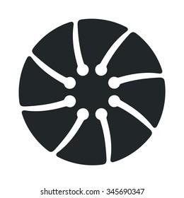 circle wheel logo vector.