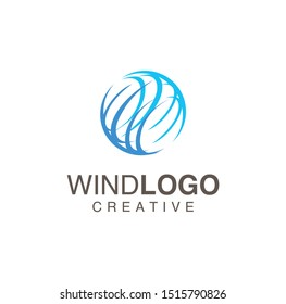 Circle Wind Logo For Business Design Vector Stock