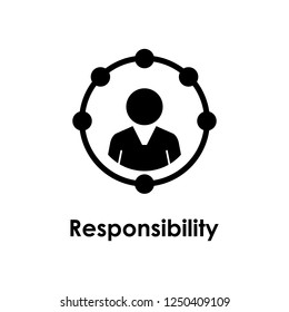 circle, worker, responsibility icon. One of the business collection icons for websites, web design, mobile app