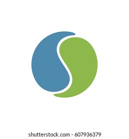 Circle yin yang logo template Illustration Design. Vector EPS 10.