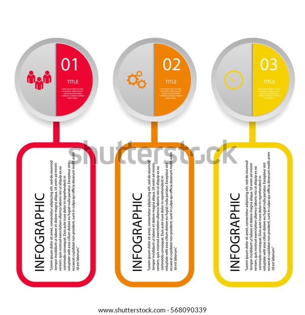 Circles  color Infographic and marketing icons vector can be used for your design eps 10