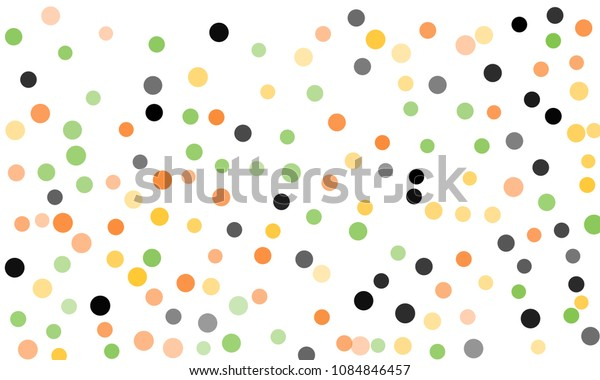 Circles confetti falling on transparent background. Round, dot vector background. Abstract colorful confetti flying in the air. Vector holiday illustration with circles confetti.