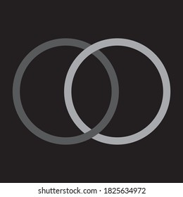 circles converge on isolated black background