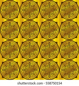 circles gold pattern background