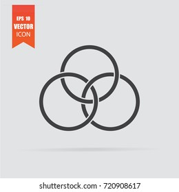 Circles icon in flat style isolated on grey background. For your design, logo. Vector illustration.