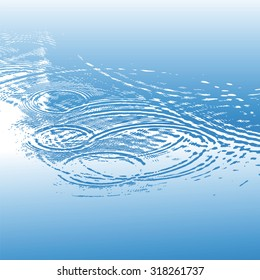 circles on the water surface, vector illustration