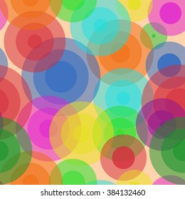 Circles on the water. Sweet Bubbles. Seamless Texture for background image on websites, e-mails, etc. Cream-colored Background.