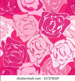 Hot pink flower background images stock photos vectors shutterstock circles pattern with abstract roses mightylinksfo
