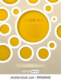 Circles postcard vector illustration
