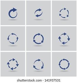 circles signs of recycling. vector set. eps10