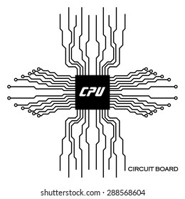 Circuit board. Abstract background. Vector illustration. Eps 10
