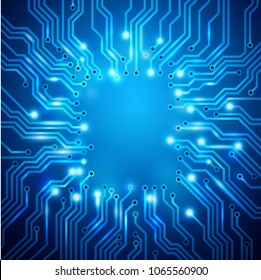 Circuit board background, vector frame. EPS 10 contains transparency.