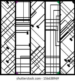 Circuit board banner for your design, digital Illustration.