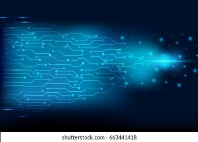 Circuit Board Blue Sci fi Space Vector Background