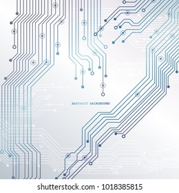 Circuit board, chipset technology background. Vector illustration. EPS 10.