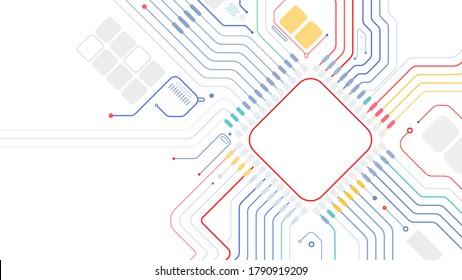 Circuit board cpu chip computer motherboard digital elements