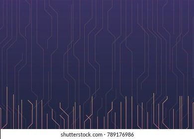 Circuit board dark colorful background. Vector illustration eps 10.