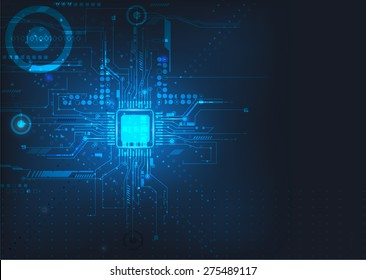 Circuit board design background vector