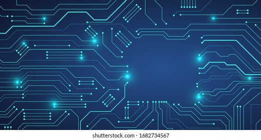 Circuit board design background.Abstract communication technology.