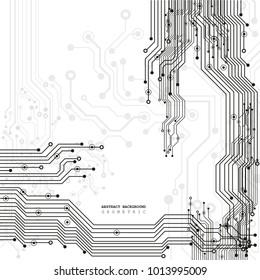 Circuit board, digital technology background. Vector illustration. EPS 10.