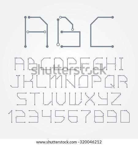 Miraculous Circuit Board Form Letters Numbers Vector Stock Vector Royalty Free Wiring 101 Breceaxxcnl