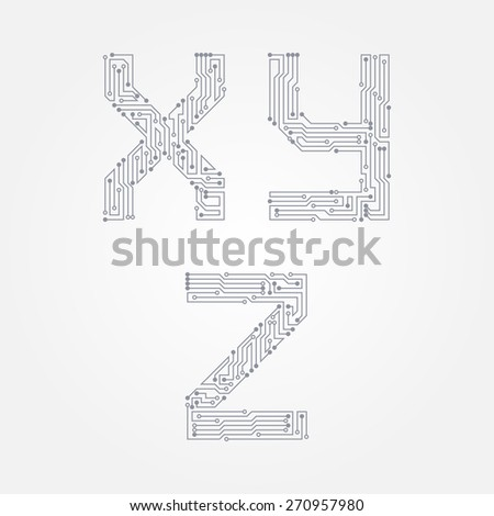 Cool Circuit Board Form X Y Z Stock Vector Royalty Free 270957980 Wiring 101 Breceaxxcnl