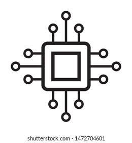 circuit board icon vector design template