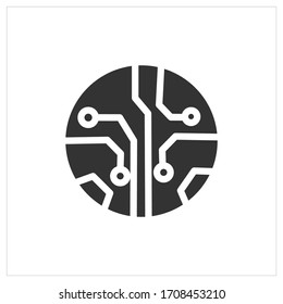 circuit board icon vector, symbol design with white background.