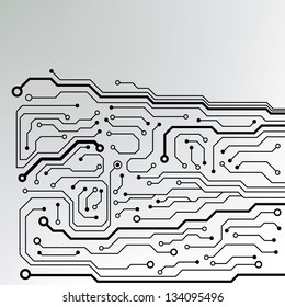 circuit board pattern. abstract technology circuit board vector background
