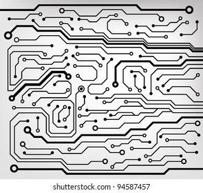 circuit board pattern. vector illustration