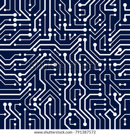 circuit board seamless pattern vector background のベクター画像素材