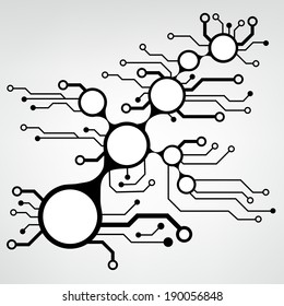 ?bstract circuit board techno background. EPS10 vector illustration pattern