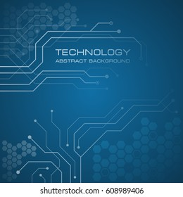 Circuit board technology abstract vector background