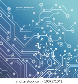 Circuit board, technology background. Vector illustration. EPS 10.
