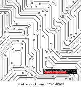 Circuit board, technology background, vector illustration