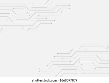 Circuit board technology concept background. EPS10 abstract motherboard microchip tech texture. Network system structure conceptual EDITABLE vector. Black lines chip connection business background.