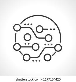 Circuit board, technology icon, vector.