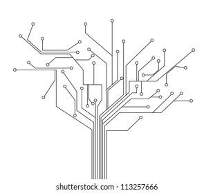 circuit board tree background