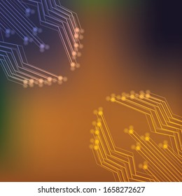 circuit board vector background on gradient color